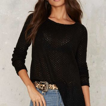 Nasty Gal Know Your Angles Asymmetric Sweater