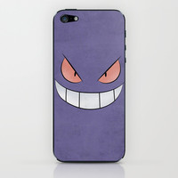 Gengar - Pokemon Minimal Poster Design iPhone & iPod Skin by Jorden Tually Art
