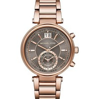 MICHAEL KORS - MK6226 Sawyer rose gold-plated watch | Selfridges.com