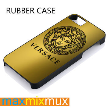 Versace Gold iPhone 4/4S, 5/5S, 5C, 6/6 Plus Series Rubber Case