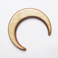 Wooden moon  hair, moon, fork, bun holder, crescent moon