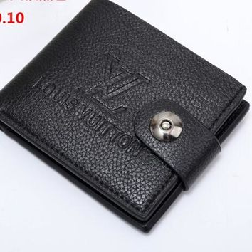 New High Quality LV Leather Wallet Unisex
