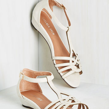 Wanna Prance with Somebody Sandal in Ivory | Mod Retro Vintage Sandals | ModCloth.com