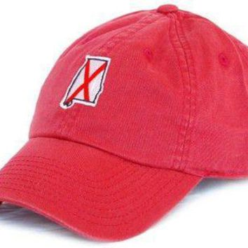 AL Tuscaloosa Traditional Hat in Crimson by State Traditions