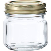 8oz Half PINT CLEAR Masons Canning Jars with Lids BAND BALL WEDDING SET OF 12