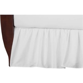 American Baby Company 100 Percent Cotton Percale Crib Bed Skirt, White - Walmart.com