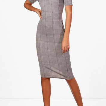 Tall Megan Check Shift Dress | Boohoo