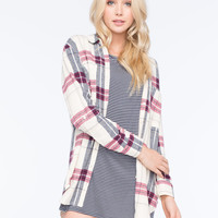 FULL TILT Plaid Womens Boyfriend Flannel Shirt | Shirts & Flannels
