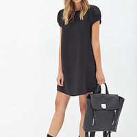 FOREVER 21 Classic Shift Dress Black