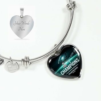 Philadelphia Eagles Bracelet Handcrafted Can Be Engraved Any TEXT