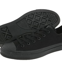 Converse Chuck Taylor All Star Lo Top Black Monochrome Canvas men's 5/ women's 7