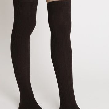 Park Trail Thigh High Socks | Ruche