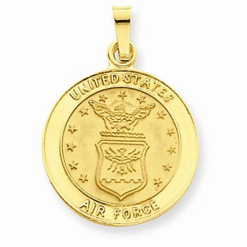 14k Yellow Gold U.S. Air Force Insignia Pendant