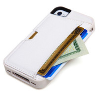 Iphone 4/4s Card Case - White | Electronics & Gadgets | SkyMall