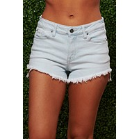 Picture Perfect Distressed Shorts (Light Wash)