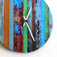 Rustic  Chic Wall Clock,  Unique Clock, Home and Living, Home Decor, Deocr and Housewares, Unique Gift, Reclaimed Wood