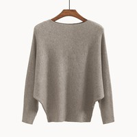 Women's Sweaters and Pullovers Coat Batwing Sleeves Loose Cashmere Sweatershirt Turtleneck Female Wool Knitted Brand Jumpers