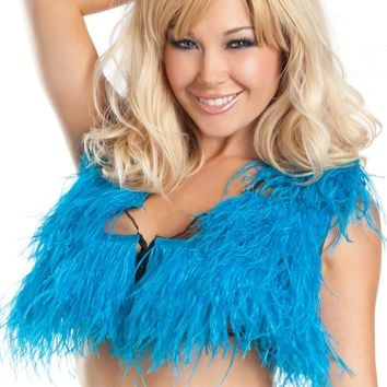 BW1501T Ostrich Feather Top