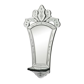 Holtshire Mini Venetian Mirror With Shelf Clear