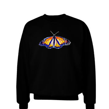 Watercolor Monarch Butterfly Adult Dark Sweatshirt