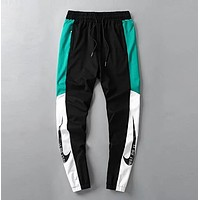 NIKE Trending Women Men Stylish Print Drawstring Sport Pants Trousers Sweatpants Green