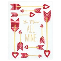 Be All Mine Valentine's Day Card