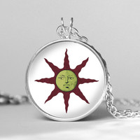 Dark Souls Solaire of Astora Sun symbol Yaranaika  pendent necklace, Dark Souls Solaire of Astora Sun gift girlfriend boyfriend gift