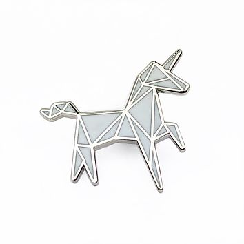 Geometric Unicorn Hard Enamel Pin