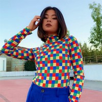Rainbow Checkerboard Bodysuit