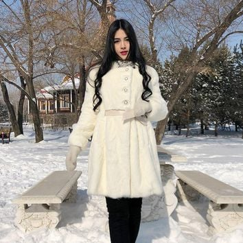 2018 Fashion mink fur coat,Elegant women's mink coats mink jackets Plus sizes real fur coat fur garments Free shipping YX17