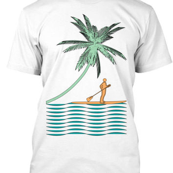 Men's Serene Paddle Boarder Shirt