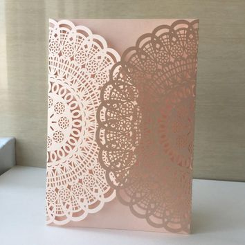 Flower Elegant Wedding Invitations Paper Card