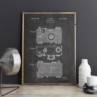 Camera Art Poster, Vintage Camera, Camera Poster, Retro Camera, Vintage Camera Decor,Camera Patent Poster,Camera Blueprint, INSTANT DOWNLOAD