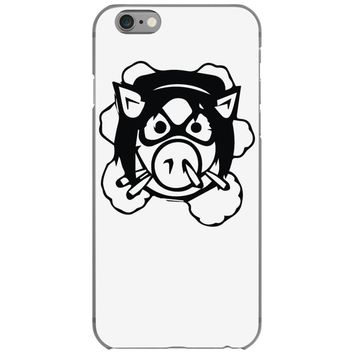 pig wheels angry iPhone 6/6s Case