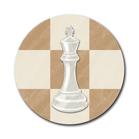 White King Chess Set Mouse Pad