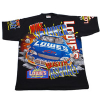 Vintage 90s Lowes Mike Skinner Nascar Shirt Made in USA Mens Size XL