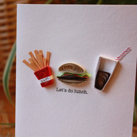 Let's do Lunch Quilled Card by SweetSpotCardShop on Etsy