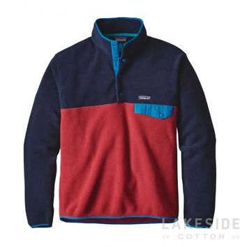 Men's Lightweight Synchilla® Snap-T® Fleece Pullover in Raspen Red | Lakeside Cotton