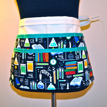 Teacher Apron, Utility Apron, Chemistry Apron, Science Apron, Science teacher apron, Science experiment apron, vendor apron