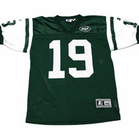 Vintage 90s Starter New York Jets #19 Keyshawn Johnson NFL Jersey Mens Size 46 (Medium)
