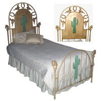 Kids Standard Bed W/ Cactus and Horses