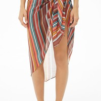 Striped Sarong Swim Cover-Up