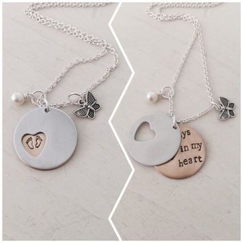Infant Child Loss, Pregnancy Loss, Miscarriage, Stillborn, Child Loss, Memorial, Baby Loss, Personalized, Hand Stamped Necklace