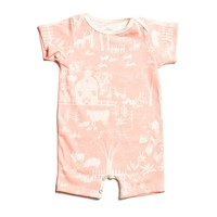 Summer Romper - The Farm Next Door Blush Pink