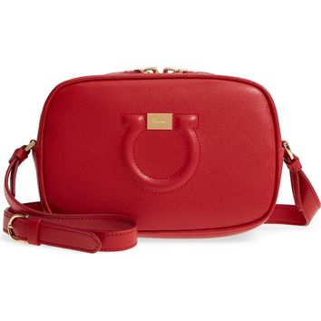 Salvatore Ferragamo Gancio Leather Camera Bag | Nordstrom