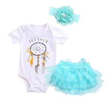 Dreamer Bodysuit, Lace Tutu Skirt & Headband Set