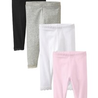 Lace-Trim Legging 4-Packs for Baby