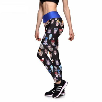 Fairytale Skulls Athletic Leggings