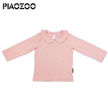 Girls T shirt Peter pan Collar tiny cottons Bottoming Shirts Girl tops tees shirts Kids children's clothes infant Girl Blouse