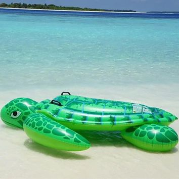 1.9m pvc green sea turtl inflatable water float rider Summer Lake Swimming Water Lounge Pool float Kid Giant Swim sea turtle